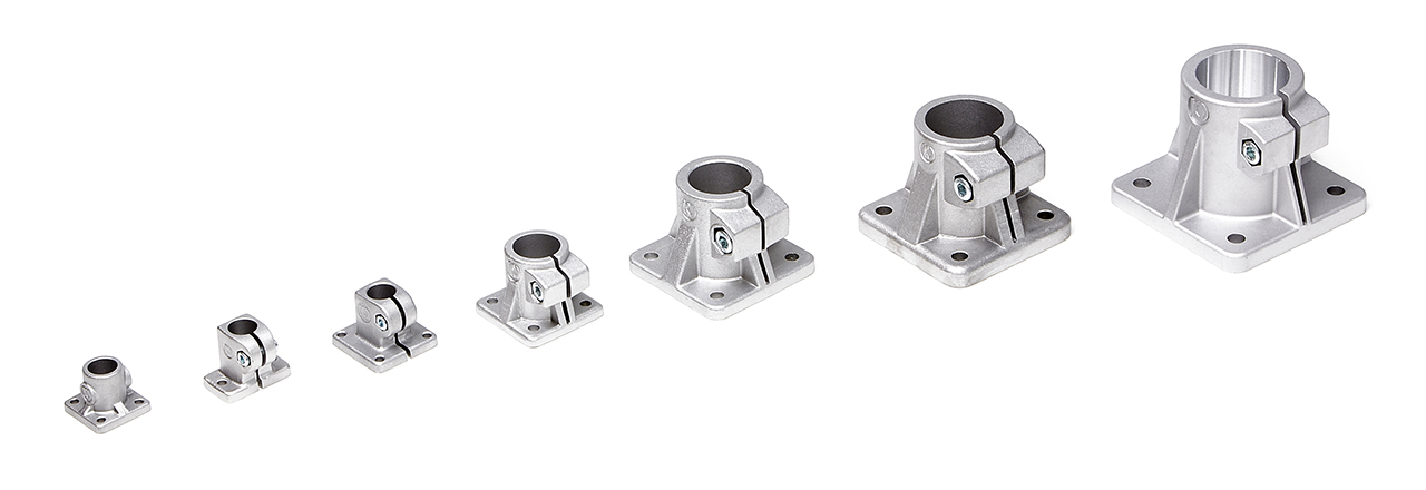 INOCON - Products - Clamps - Aluminium Pedestal Clamps